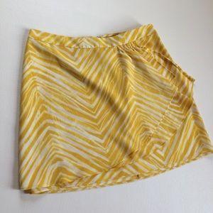 BCBGMaxAzria Yellow Zebra Print Mini Skirt Size 4